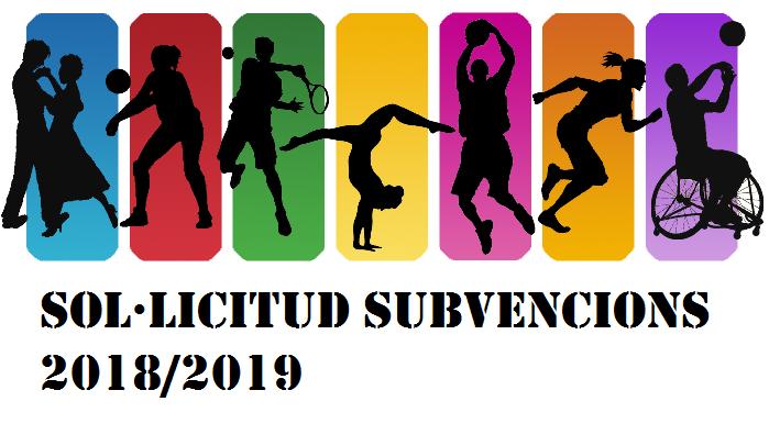 Sol·licituds Subvencions 2018/2019